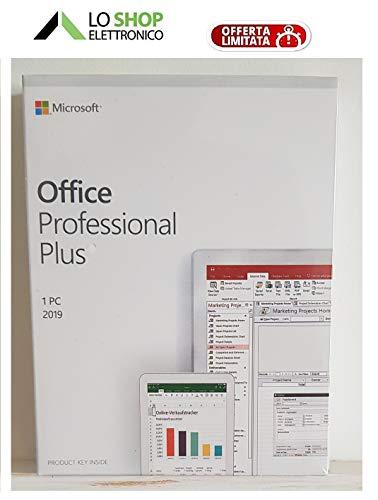 Office 2019 Professional Plus - Box Sigillato - Prodotto Ufficiale - Attivazione Online - Ultimissima Versione
