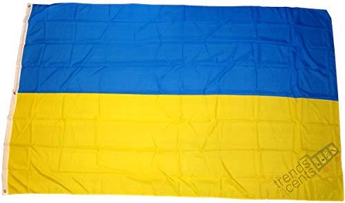 Ukraine Drapeau Grand format aux intempéries 250 x 150 cm Drapeau