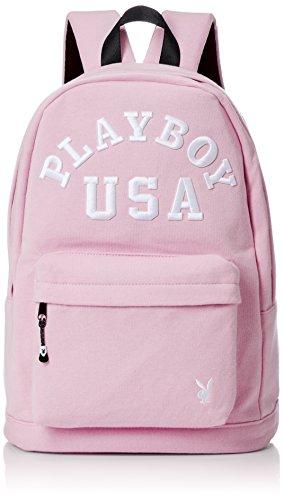 [プレイボーイ] リュック デイパック カバン かばん 鞄 バックパック スウェットリュック PLAYBOY ロゴ レディース メンズ ユニセックス 刺繍 PL-MBBKW04 ピンク One Size