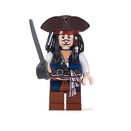 LEGO® Fluch der Karibik / Pirates of the Caribbean™ Minifigur Jack Sparrow mit Dreispitz seltene Version wie aus 30133