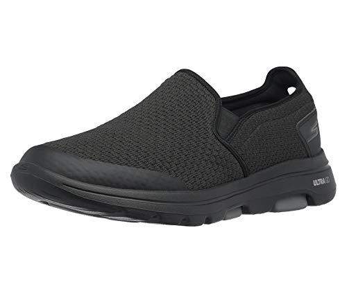 Skechers Men's Gowalk 5 Apprize-Double Gore Slip on Performance Walking Shoe Sneaker, Black, 11 X-Wide