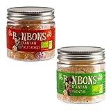 Caramelos Naturales Sin Colorantes La Maison d'Armorine: Frutos Rojos + Menta, Producto Orgánico - 2 x 120 Gramos