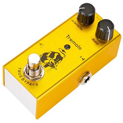Supvox Pedale per Chitarra Tremolo Simulazione Vintage Amplificatore Valvolare Classico Effetto Pedale Screamer per Chitarra Elettrica True Bypass