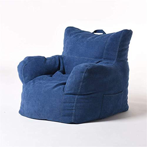 Living Equipment Sitzsäcke Großer Sitzsack Stuhl Sofa Couchbezug Ohne Füllung Liegestuhl Sitzsack mit hoher Rückenlehne für Erwachsene und Kinder im Innen- und Außenbereich (Farbe: Fjordblau Größe: