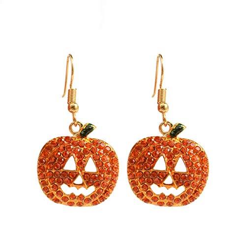 Cdoohiny hdgcb - Pendientes de cristal para decoración de Halloween, diseño de calabazas