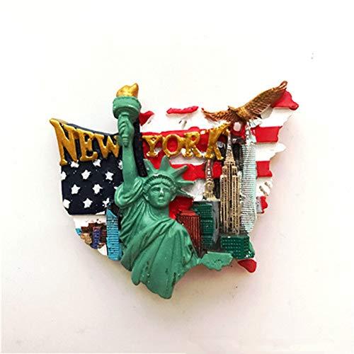 Bella 3D Magneti per FrigoriferoCalamite da Frigo in Resina Viaggio Souvenir del Modo Stati Uniti Americana US New York Statua della libertà Fridge Magnet Sticker