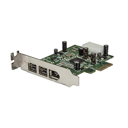 StarTech.com 3 Port 800+400 FireWire PCI Express Schnittstellen Low Profile Combo Karte, PCIe 3 Port FireWire Card, PCI-e 1 x Firewire 400 1394A 2 x FireWire 800 1394B