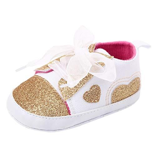 Fossen Recién Nacido Zapatos Primeros Pasos Bebe Niña Forma de corazón Antideslizante Suela...