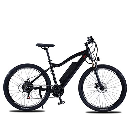 HMEI Bicicleta eléctrica de 500 W, Bicicleta de montaña eléctrica para Adultos de 27,5 Pulgadas, Bicicleta eléctrica de 48 V con batería extraíble de 10 Ah, Engranajes Profesionales de 21 velocidades