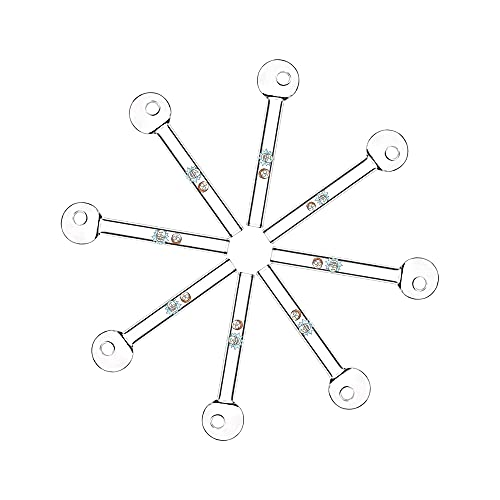 8Pcs Thick Handmade Glass Straws Made of High Borosilicate Glass