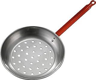 ANGOPE Sartén castañera de Hierro Pulido – cocinar castañas y Frutos Secos en leña y Cocina