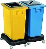 Kit 2 Collecteurs de Tri pour Emballage et Papier - 2 X Cuves 60 L inclus...