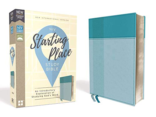 NIV, Starting Place Study Bible, Leathersoft, Teal, Thumb Indexed, Comfort Print: An Introductory Exploration of Studying God's Word