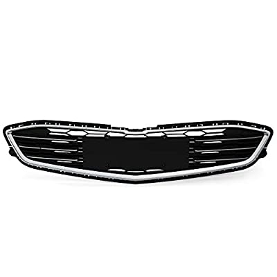 VRracing Front Bumper Grille Mesh Lower Grill Replacement for Chevy Malibu 2016-2018 Chrome ABS Grill