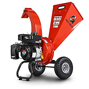 GreatCircleUSA Mini Wood Chipper Shredder Mulcher Kohler 6.5 HP 196cc Gas Powered 3  Inch Max Wood Capacity EPA/CARB Certified Aids in Fire Prevention/Building Firebreaks
