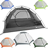 Hyke & Byke 2 Person Backpacking Tent with Footprint - Lightweight Yosemite Two Man 3 Season...
