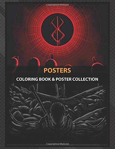 Coloring Book & Poster Collection: Posters Berserk Anime & Manga