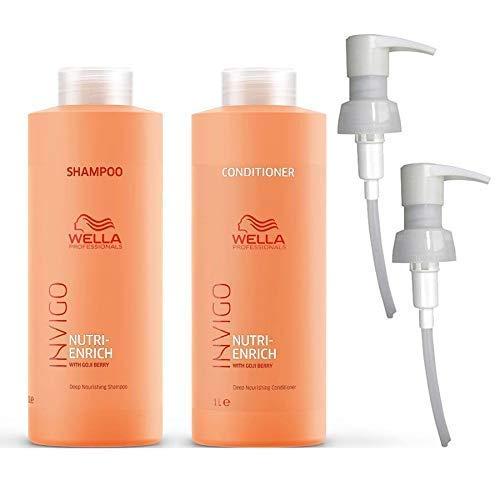 Wella Invigo Nutri-Enrich Shampoo & Conditioner Duo Litre 1000ml Pack + Pumps