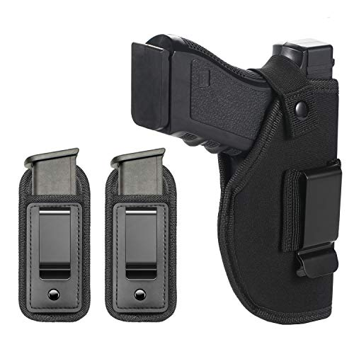 TACwolf Magazine Holster Pouch Stack Waistband Fits All Firearms Pistol S&W M&P Shield 9/40 1911 Bodyguard Taurus G2 Sig Sauer G17 19 26 27 42 43 Springfield XD XDS