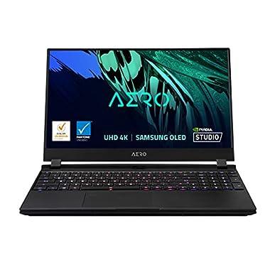 GIGABYTE AERO 15 OLED YD – 15.6″ UHD 4k AMOLED IPS, Intel Core i9, NVIDIA GeForce RTX 3080 Laptop GPU 8GB GDDR6, 32GB RAM, 512GB SSD + 1TB SSD, Win10 Pro, Creator Laptop (AERO 15 OLED YD-93US648SP)