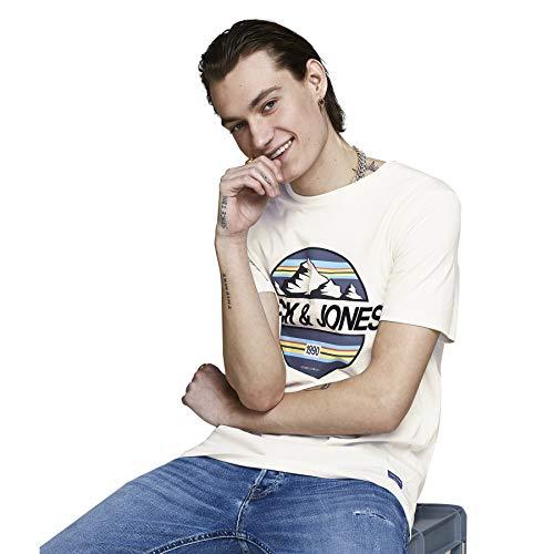 Preisvergleich Produktbild JACK & JONES Originals Jorlanders Tee T Shirt Herren T Shirt 12155470 / HerrenCreme / L