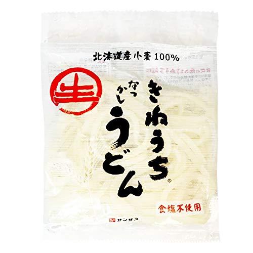食塩不使用 麺 きねうち なつかし うどん 北海道 小麦 100% 200g × 5袋セット