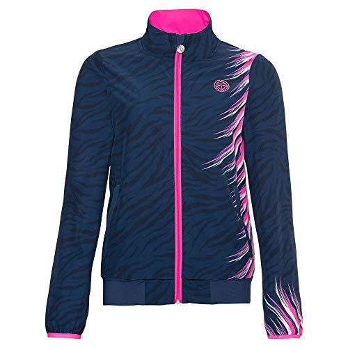 BIDI BADU Damen Jacke-Gene Tech Jacket-Dark Blue, GRÖßE:S Trainingsjacke, Blau/Pink, S