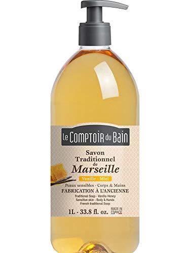 Le Comptoir du Bain Savon Traditionnel de Marseille Vanille-Miel 1 L