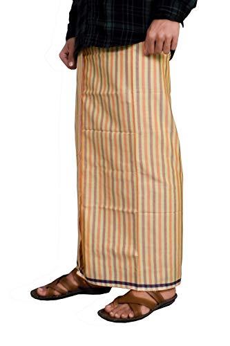 Riyashree men's cotton lungi for men free size 2 meter MenLungi 004