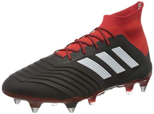 Adidas Predator 18.1 SG, Botas de fútbol Hombre, Negro (Negbás/Ftwbla/Rojo 001), 42 EU