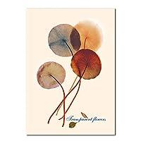 キャンバス絵画ミニマリスト緑の植物の葉のポスターとプリント北欧のリビングルームキッチン壁アート写真家の装飾壁画-30x50cmフレームなし