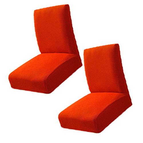Fenteer Juego de 2 Fundas para Sillas de Banquete de Boda de Poliéster Spandex de Color Naranja