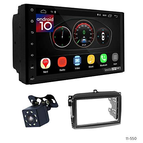 UGAR EX10 7' Android 10 DSP Navigazione GPS per Autoradio + 11-550 Kit di montaggio per FIAT (500L) 2012-2018