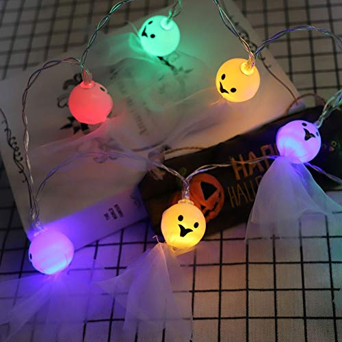 Halloween Lights String Ghost String Lights 4.5M 30 Lights Elves Grimace Fairy String Lights Battery Operated Halloween Lights Indoor Outdoor Party Decorations