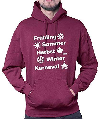 Hariz - Sudadera con capucha para hombre, primavera, verano, otoño, invierno, carnaval, disfraz, incluye tarjeta de regalo Rojo vino. XXL