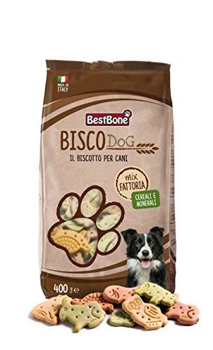 Bestbone Biscodog Mix Fattoria Biscotti Gustosi e Croccanti per Cani Vitamine e Minerali Confezione da 400 Gr - 400 g