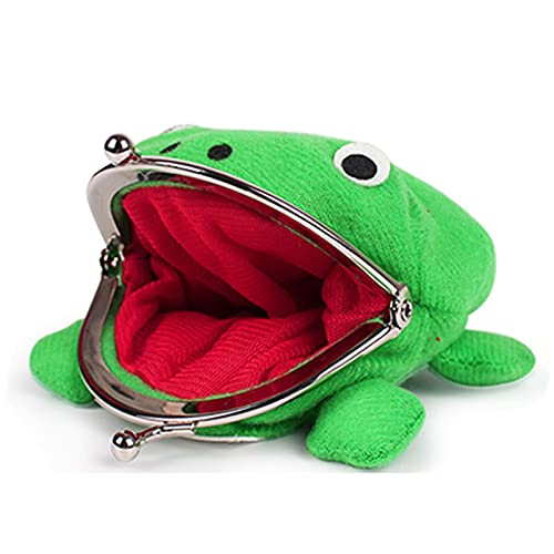 Anime Frog Wallet,Frog Coin Wallets Frog Coin Purse with Cosplay Headband, for Christmas Cosplay Ninja Themed Party Gift Blue