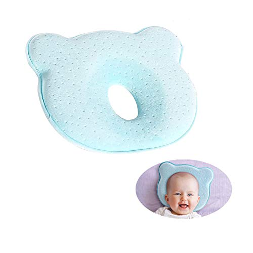 Kissen Säugling Neugeborene,babykissen gegen plattkopf,Kleines Babykopfkissen,Baby Memory Schaum Kissen,Baby Kissen Weich, rutschfest lan
