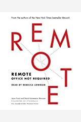 Remote: Office Not Required by Jason Fried (2013-10-29) Audio CD