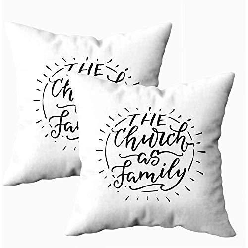 Ducan Lincoln Pillow Case 2PC 18X18,Art Kissenbezug,Quadratische Throw Pillowcase Covers Halloween Die Kirche Als Familie Modern Shirt Beschriftet Kalligraphische Perfekte Banner Andere Arten