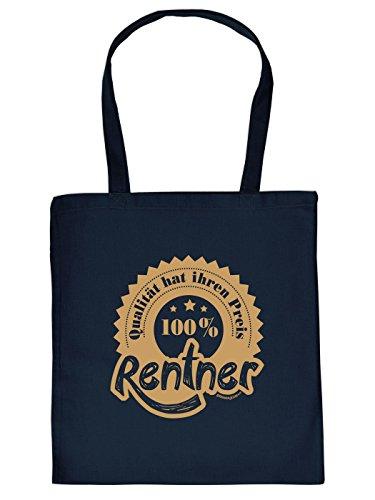 Stofftasche - Qualität 100% Rentner - lustig Bedruckte Umhängetasche für Rentner mit Humor - Baumwolltasche Tragetasche mit witzigem Spruch