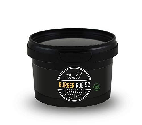 Bembo Barbecue - BBQ Rub - Miscele di Spezie per Barbecue e Marinatura (Burger - Rub 92, 150 g)