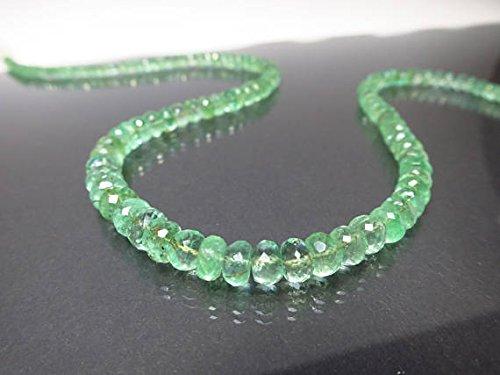 scintillante smeraldo pietra preziosa collana Colombiano, smeraldo naturale Colombiano/collana di perline 4mm–6.5mm 45cm