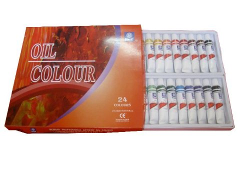 Memory Professional Artists Oil Paint Set, 24 Colours in 12ml Aluminium Tubes, Retail Packed