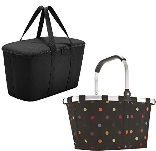 reisenthel Set carrybag dots BK7009 +coolerbag black UH7003