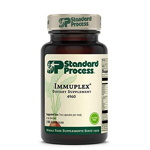 Standard Process Immuplex - Whole Food Immune Support and Antioxidant Support with Chromium, Folate, Vitamin B6, Copper, Selenium, Vitamin A - 150 Capsules