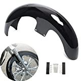 CANMIYOU Motorcycle Front Fender 21' Wheels Wrap 5.5' Front Mud Guard fits for Harley Touring Road King Road Glide Electra Glide Street Glide Custom Baggers Gloss Black