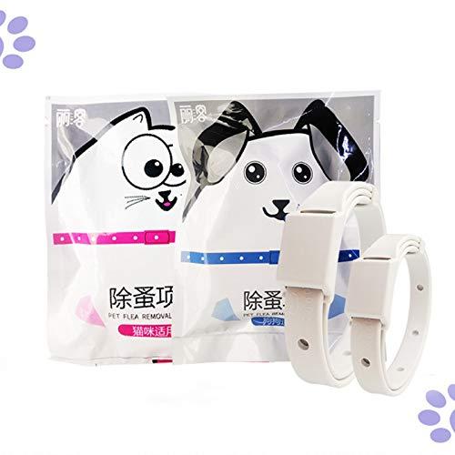 YUOXO Collar Antipulgas para Mascotas Repelente de Mosquitos para Gatos Collar