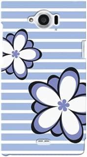 docomo AQUOS ZETA(SH-01G) 花柄02 スマホケース スマホ ケース ハード カバー ポリカーボネート q0752-f0053(3-ブルー)
