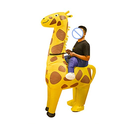 W-anqun Halloween Carnival Yellow Giraffe Inflatable Suit Festive Party Clothing Cosplay Inflatable Suit